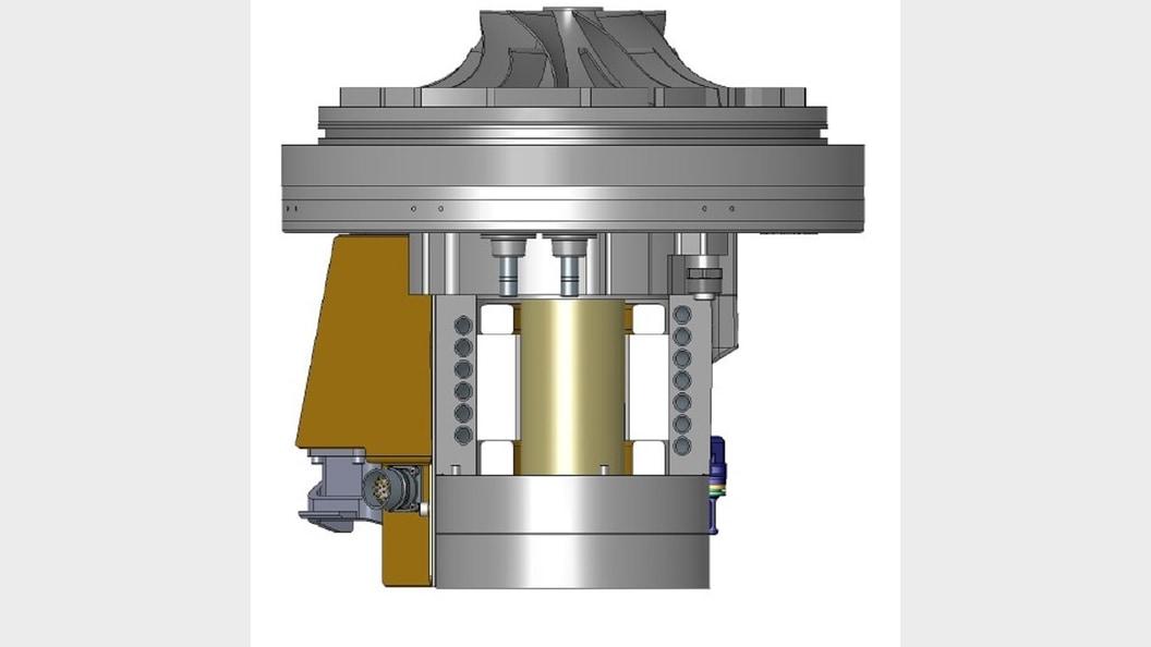 Gehäuse und Kühlung des 35kW-Motors