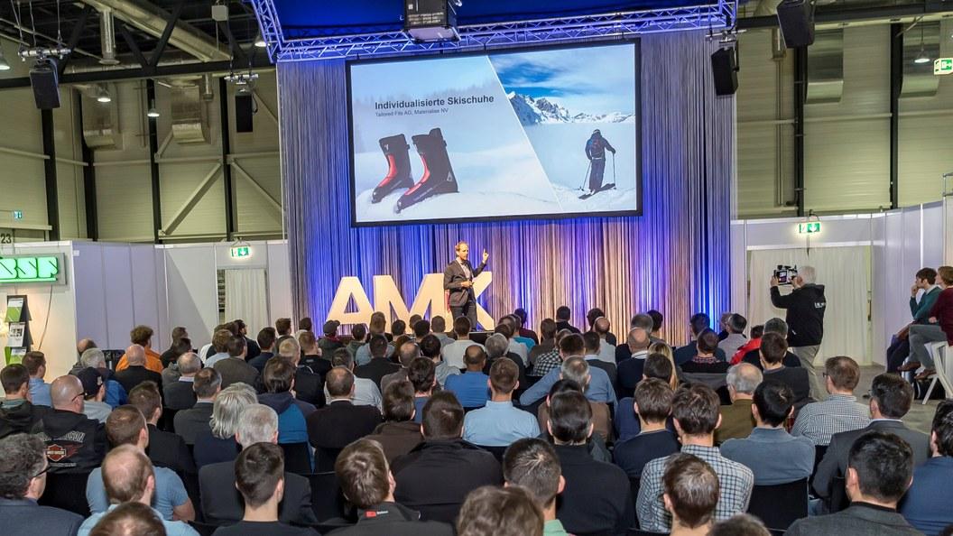 Showcase-Pitches hier während der AM Expo in Luzern