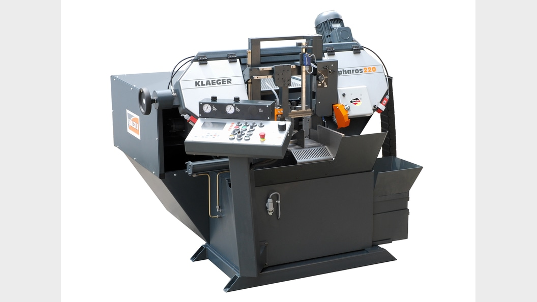 Automatic bandsaw with double columns pharos220SmartCut from KLAEGER Germany