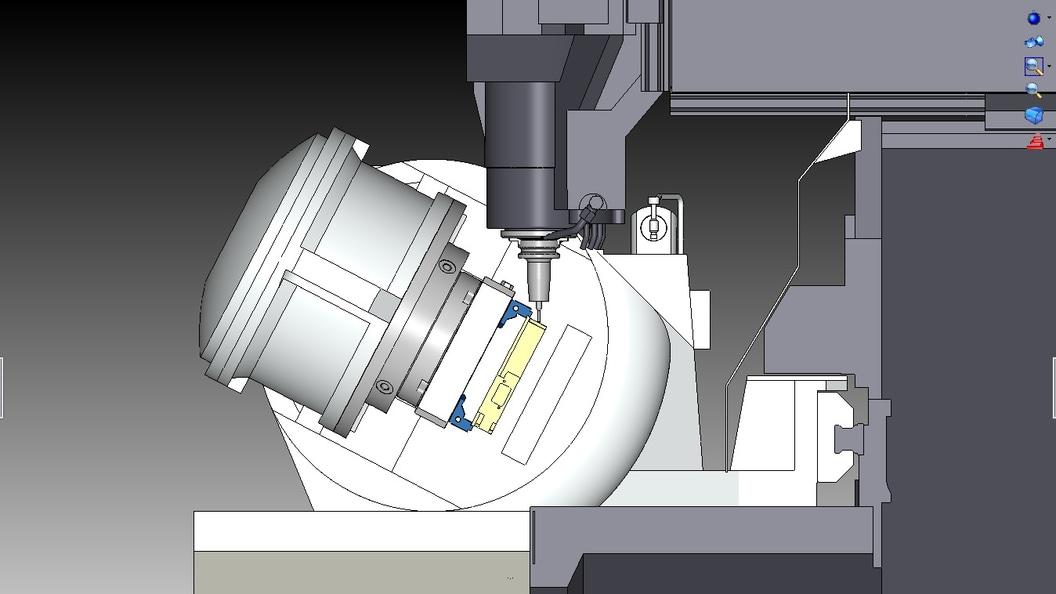 Präzise Maschinenraumsimulation mit Materialabtrag