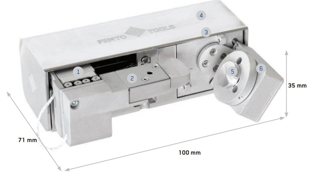 FT-NMT03 Nanomechanical Testing System with additive manufactured cover at position 2