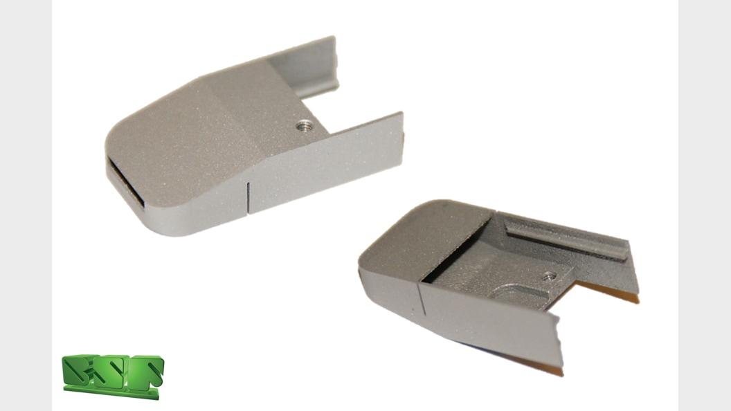 The very thin-walled component shows excellent surface quality on all visible surfaces