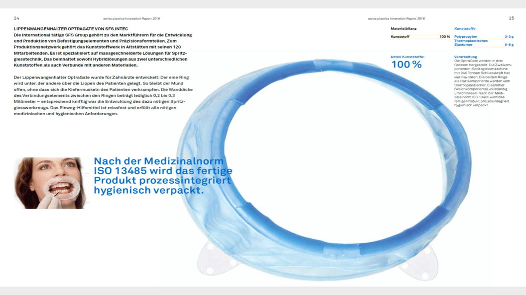Lippenwangenhalter Optragate von SFS INTEC - 100% aus Kunststoff