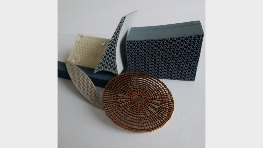 Diverse Filter, hergestellt im Exentis 3D Mass Customization®