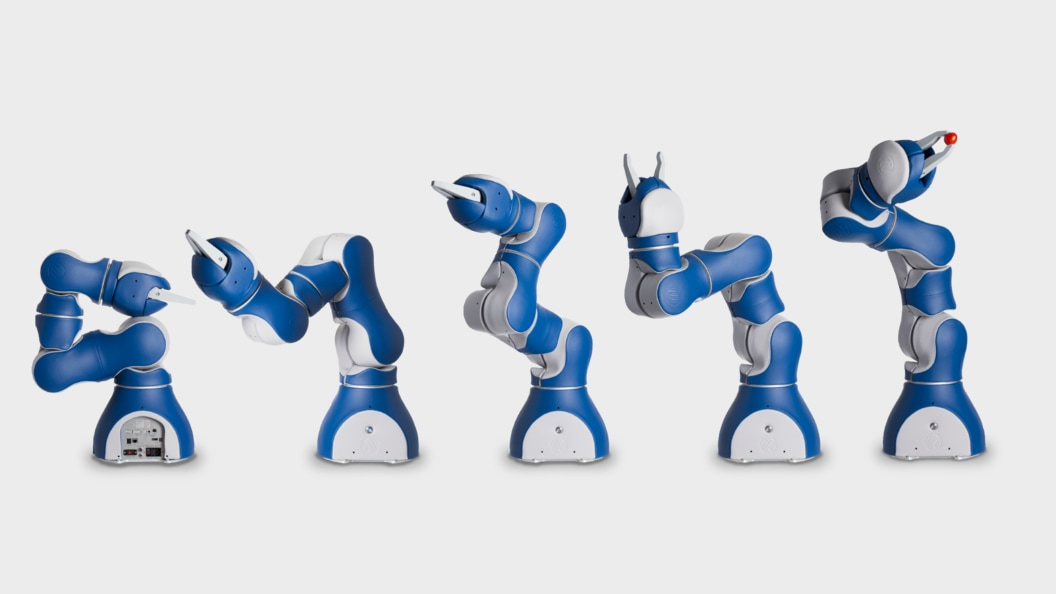 Abb. 1: F&P Leichtbauroboter «P-Rob» mit produktspezifischem Greifer