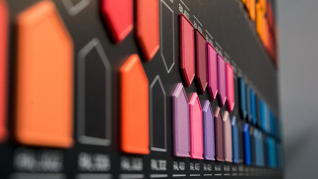 presentation of the RAL range of colours