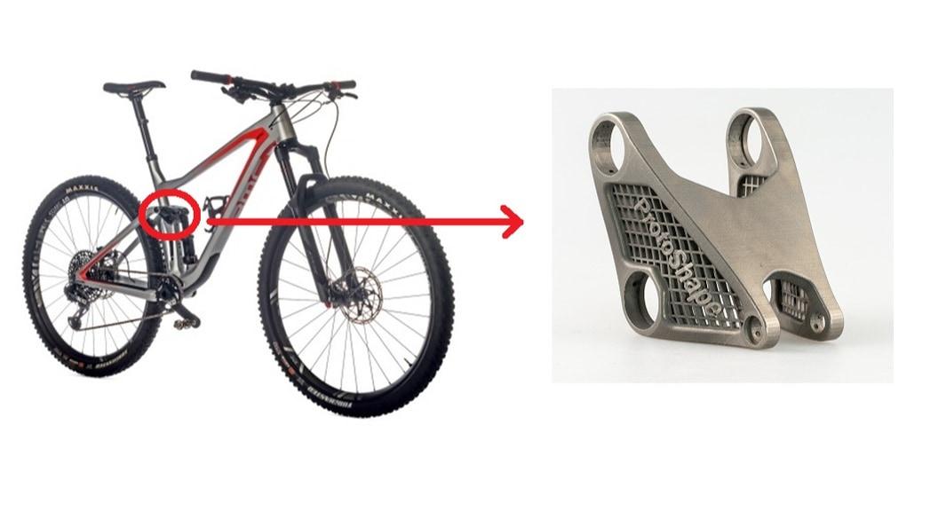Additiv gefertigte Mountainbike-Komponente aus Titan: Demonstrator für Leichtbau und Dauerfestigkeit