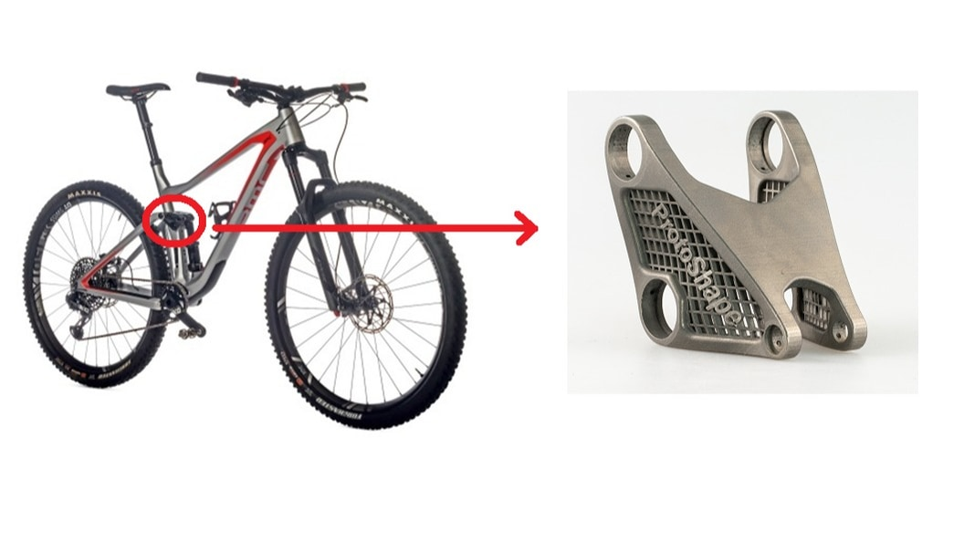 AM Mountain bike part made of titanium: demonstrator for lightweight design & fatigue strength