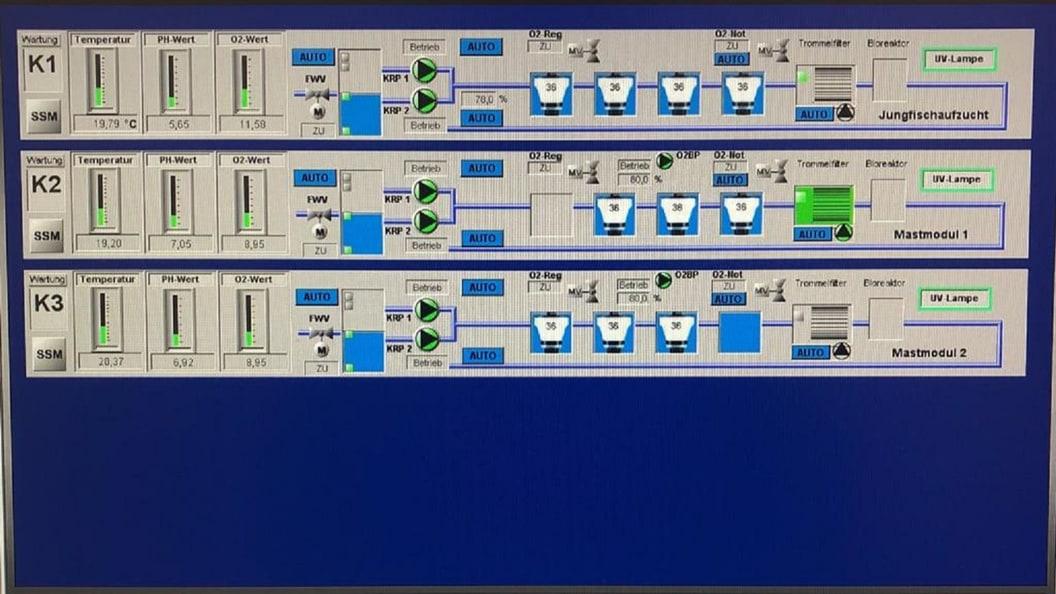 Details Fischzuchtmodul im System