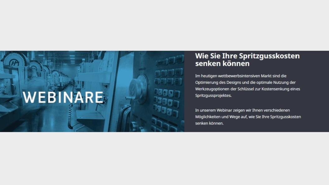 Webinar: Spritzgusskosten senken