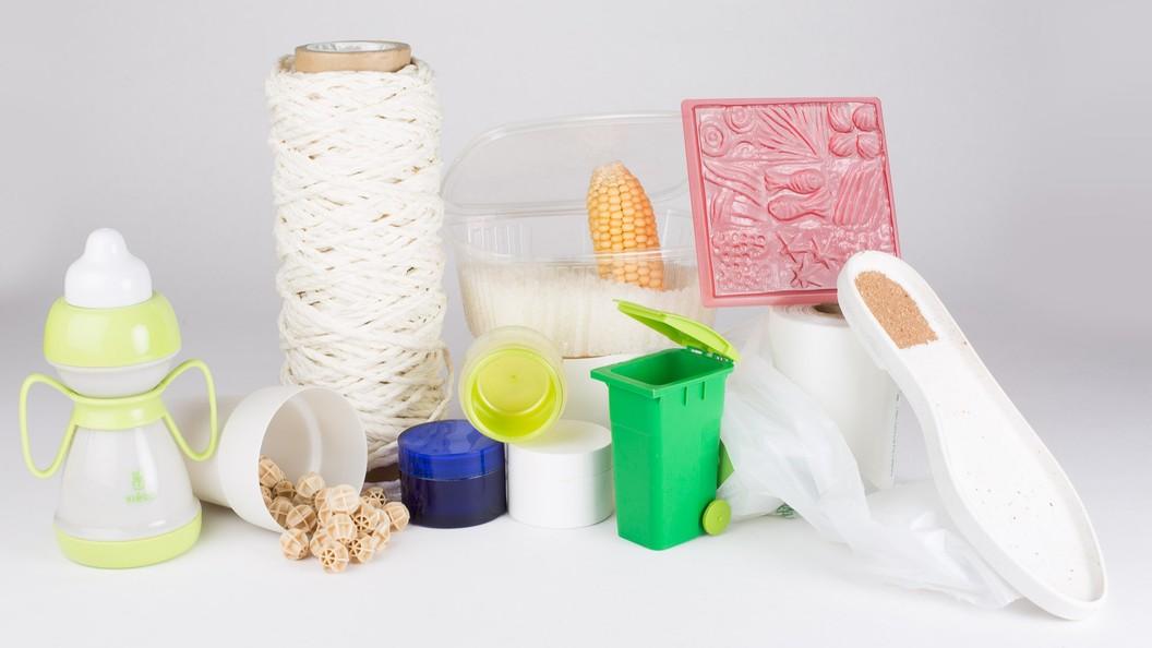 Artikel aus diversen biobasierten Kunststoffen