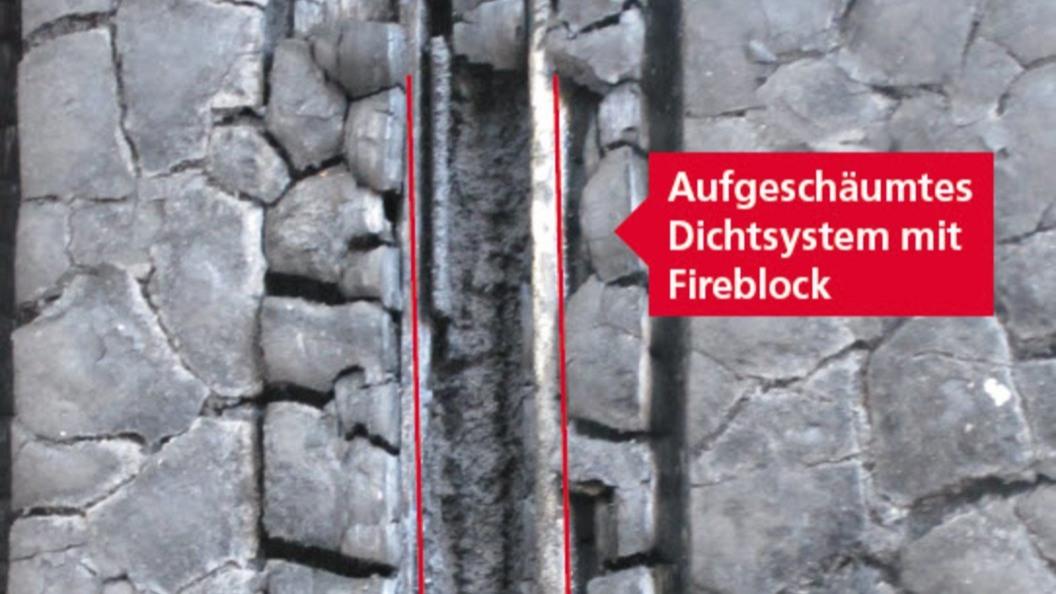 Bild 5, nach der Brandschutzprüfung ist die Dichtfunktion gewährleistet und die Prüfung bestanden