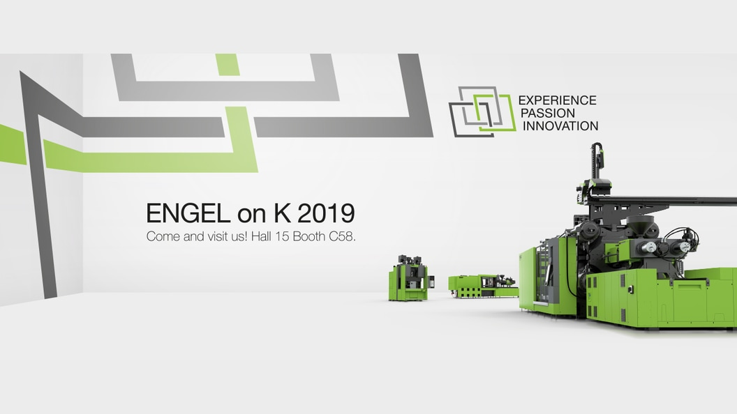 This year's motto of ENGEL at K 2019: Experience. Passion. Innovation.