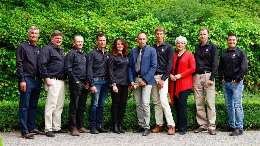 GalloSuisse-Vorstand und -Mitarbeiterinnen, engagiert für die Schweizer Eierproduzenten.
