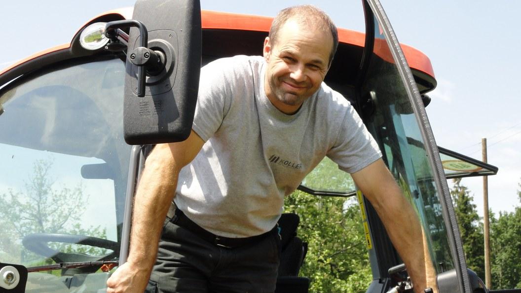 Auf dem Betrieb von Matthias Koller in Haslen wird der Kubota M4072DTHQ für alle Arbeiten eingesetzt