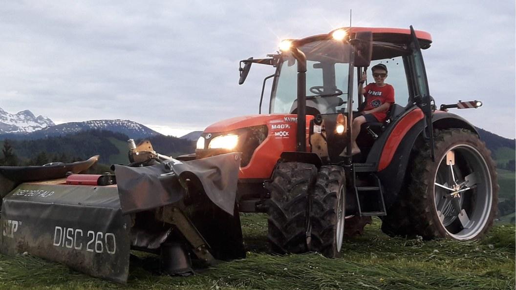 Kubota Traktoren sind äusserst wendig und zeichnen sich durch optimale Gewichtsverhältnisse aus