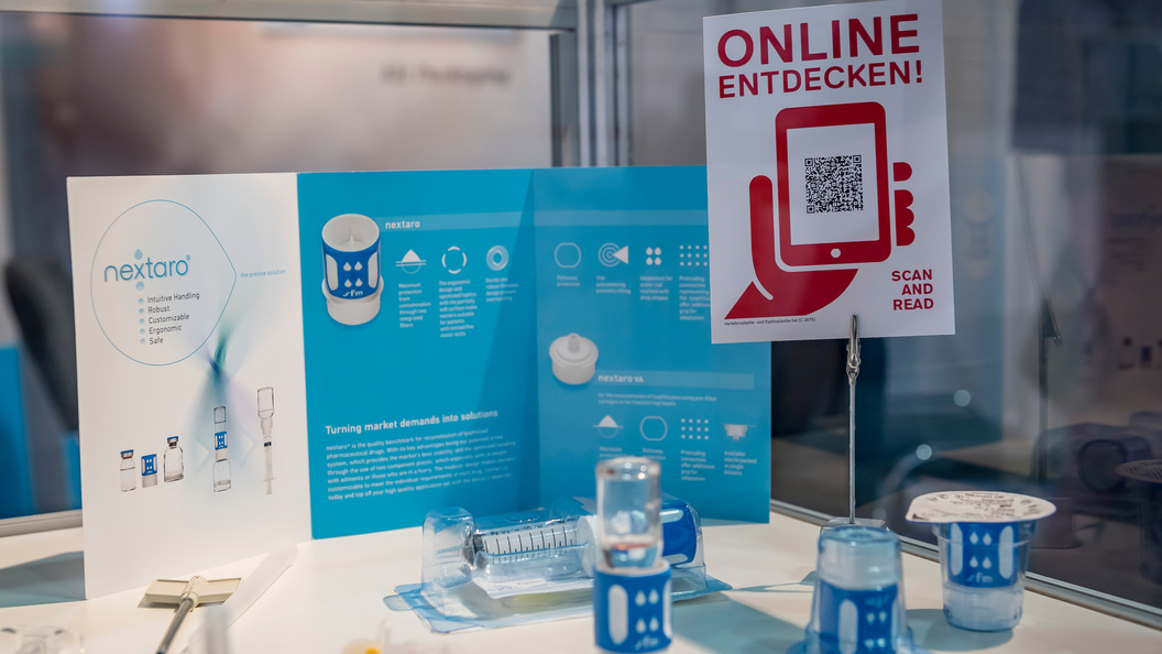 The exhibitors presented their showcases already before the Swiss Medtech Expo on the trade fair web