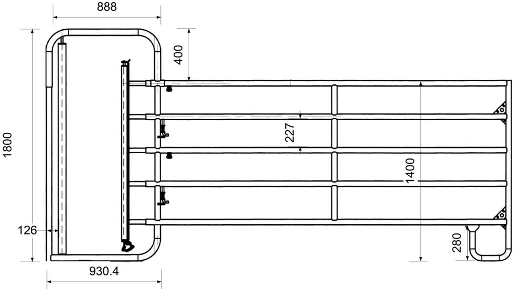 Weidepanel 5 Rohr mit integriertem Kälberschlupf