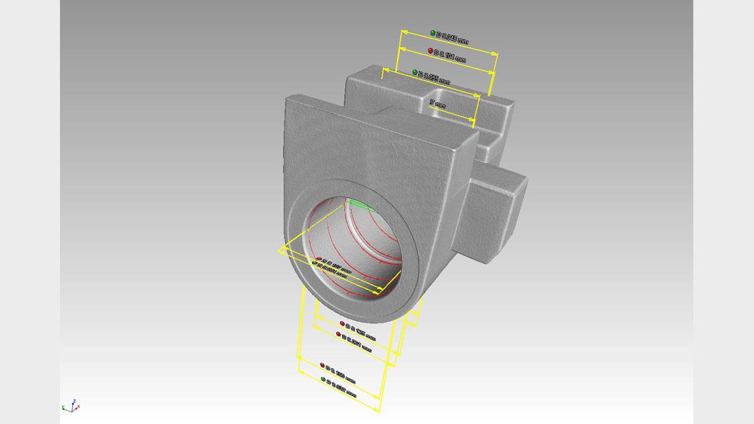 Bild 4: Geometrische Ausmessung