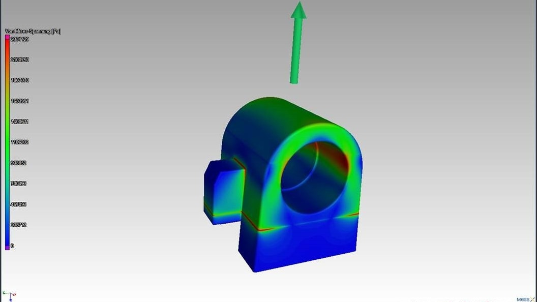Bild 7: Strukturmechaniksimulation