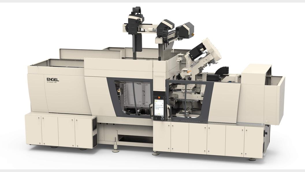 Auf einer e-motion 160 combi werden Gehäuseteilen für medizinische Devices produziert.