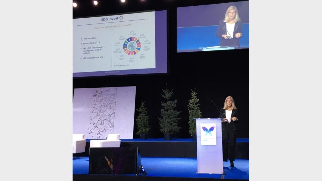 Anne-Louise Thon: keynote on sustainable investments at JCI World Congress in Tallinn, Estonia, 2019