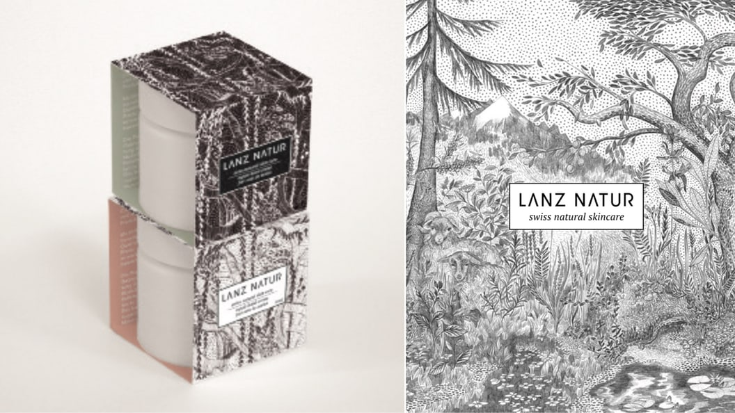 conception cosmetics packaging Lanz Natur AG