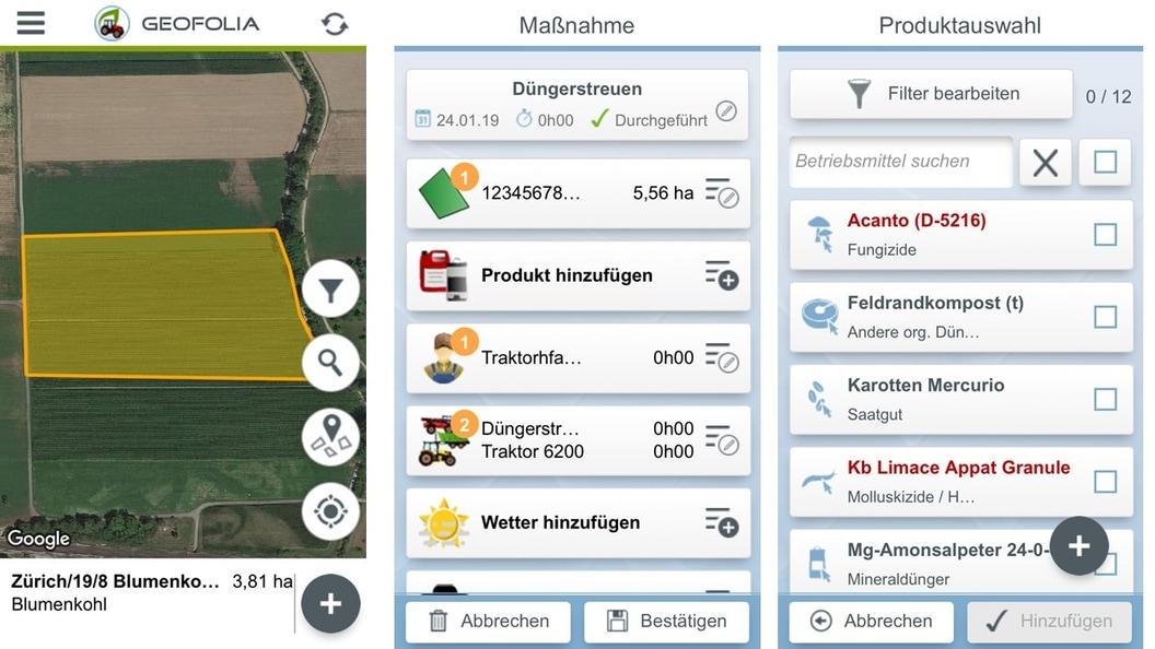Geofolia Smartphone App über Internet synchronisiert