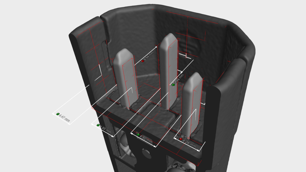 Multimaterial-CT-Scan mit Messtechnik