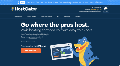 HostGator website 2020