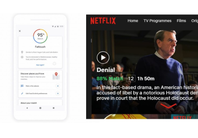 The image includes screenshots from Google Maps and Netflix to demonstrate how it might look to make a system that explains its decisions. Both are good first steps, but there is much improvement to be made.