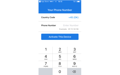Signal's sign up process only asks for your phone number.