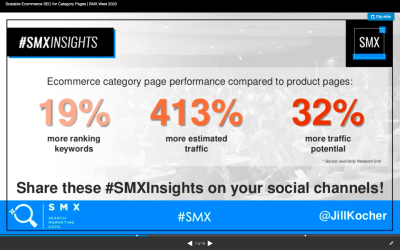 SEO Jill Kocher Brown research - ecommerce category page vs. product page performance