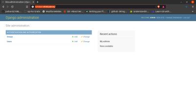 this shows admin dashboard.