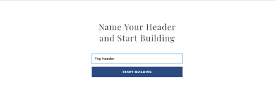 As soon as you click on the 'Add Header' button, you'll see a screen that asks us to provide a title for the page