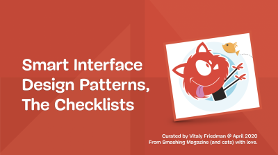 """The cover of the PDF deck on """"Smart Interface Design Patterns"""""""