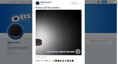 Oreo Super Bowl meme