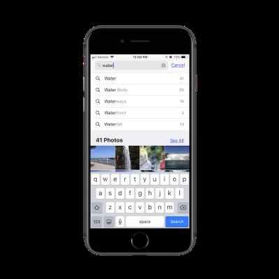 Apple Photos app search
