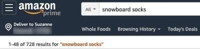 Amazon search snowboard socks