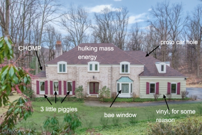 An example of McMansion Hell critiquing shoddy architecture
