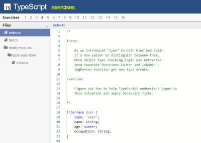 TypeScript Exercises