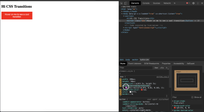 cubic bezier in dev tools.