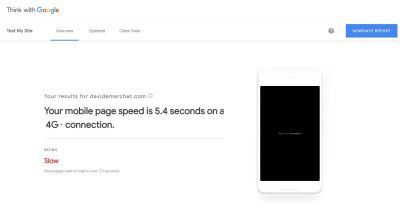 Test My Site report for Davide Marchet