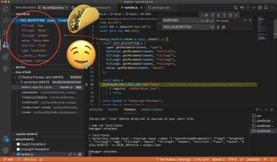 Debug Mode in Visual Studio Code.