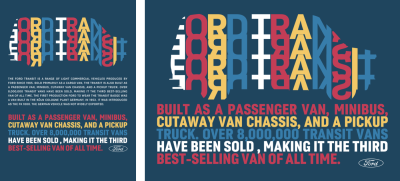 Brightly colored blocks of SVG text add impact in this distinctive design, inspired by Bradbury Thompson.