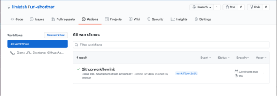 All the workflow for the current repository