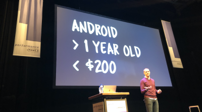 What's a representative device to test on in 2021? An Android device that's couple of years old, and costs around $200.