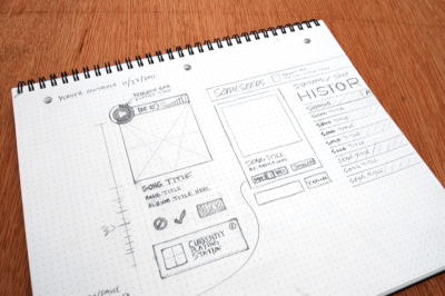 Sketching helps designers express their ideas in a way that others team members can understand.