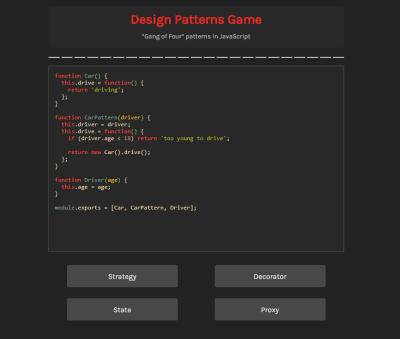 Design Patterns Game