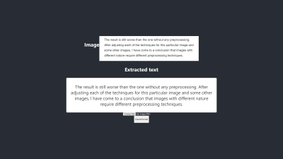 Best image-to-text conversion outcome on Firefox and Chrome without preprocessing.